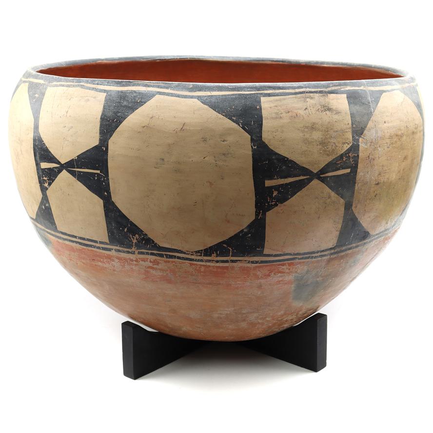 Leo Pablano, Tongan Tapa Cloth, Large Santo Domingo Bowl, Yurok Basket, Mike Medicine Horse Zillioux, Margaret Tafoya, Lucy Lewis, Navajo Weavings, Jewelry, Pottery and More