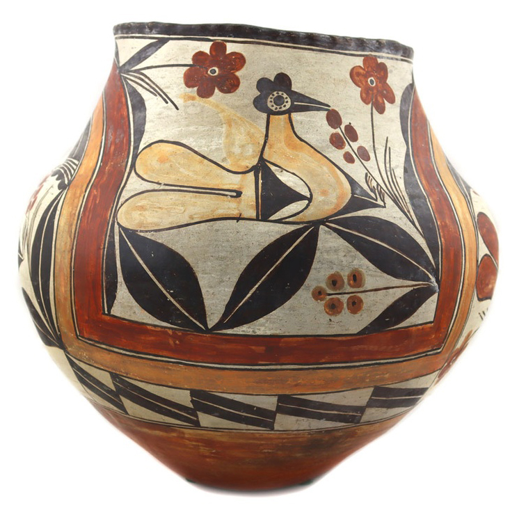 September 29, 2021 Great Old Pawn Jewelry, Large Pueblo Pottery Collection Including c. 1900s Acoma 4-Color Olla