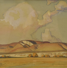 Works by Maynard Dixon - Along the Distant Mesa