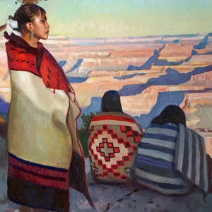 Paintings with Navajo Rugs and Blankets