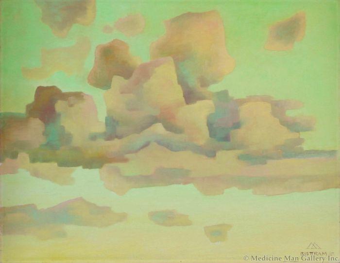 SOLD Emil Bisttram (1895-1976) - Evening Clouds