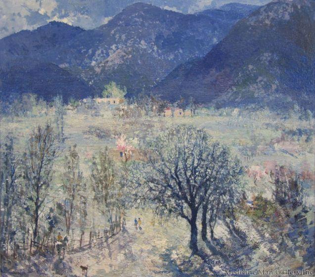 SOLD Fremont Ellis (1897-1985) - Mountain Scene