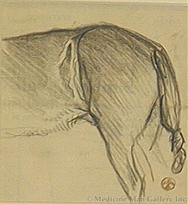 Maynard Dixon (1875-1946) - SOLD - Knotted Horse Tail
