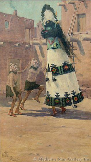 SOLD Louis Akin (1868-1913) - Soh-La-Ko and Ko-Koyenisis