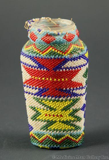 Paiute Beaded Glass Bottle