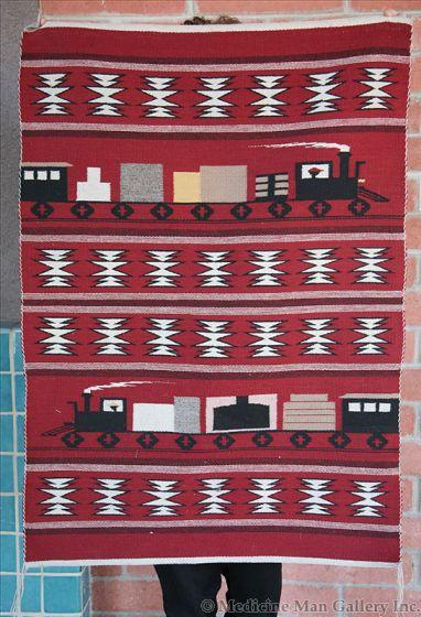 Navajo Train Pictorial Rug