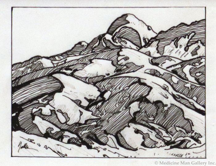 Bill Gallen - Study for Uprising (Line in Nature) (PLV90713-0521-004)