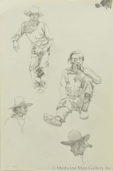 Ralph Brownell McGrew (1916-1994) - Number SK. 715, Native Figures (PDC90536-1220-052)