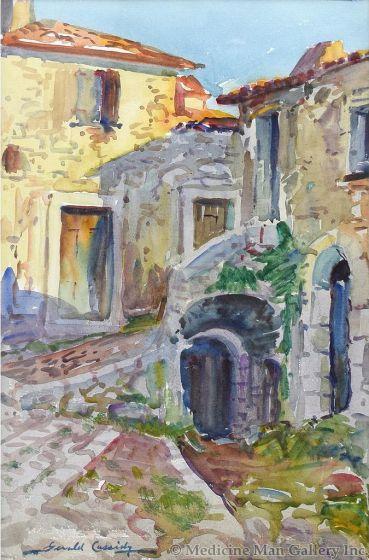 Gerald Cassidy (1879-1934) - Street Scene