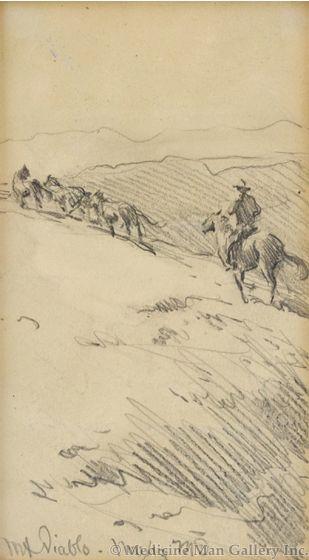 Maynard Dixon (1875-1946) - SOLD - Mt. Diablo