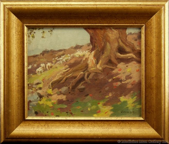 SOLD E. I. Couse (1866-1936) - Untitled (Tree Trunk)
