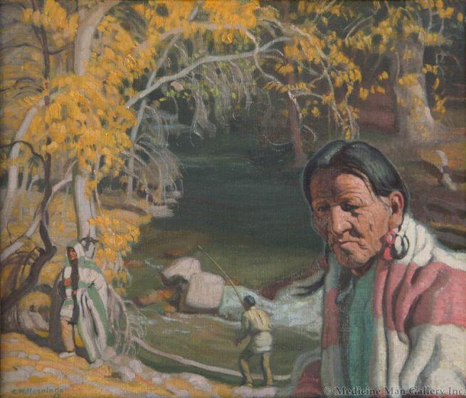 SOLD E. Martin Hennings (1886-1986) - At the Rio Hondo
