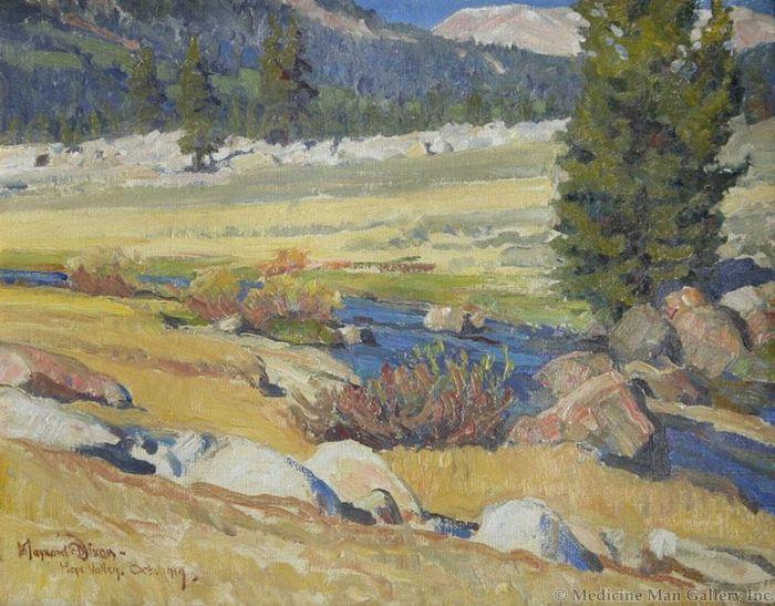 Maynard Dixon (1875-1946) - SOLD - Mountain Meadow in Autumn