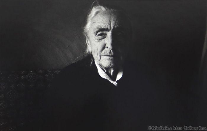 Dan Budnik (1933-2020) - Georgia O'Keeffe, Ghost Ranch, Abiquiu, New Mexico; March 1975 (PDC90211C-0121-002)