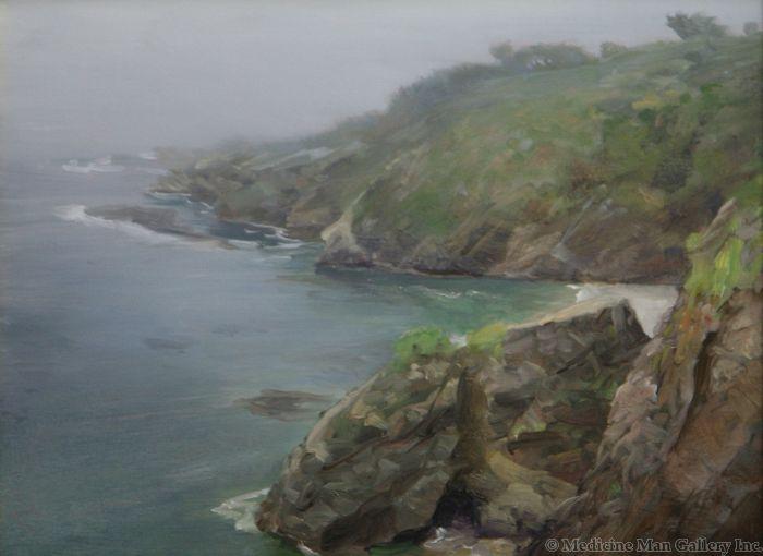 P. A. Nisbet - Foggy Shore