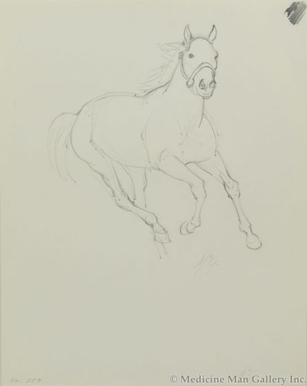 Ralph Brownell McGrew (1916-1994) - Number SK. 557, Galloping Horse (PDC90536-1220-083)