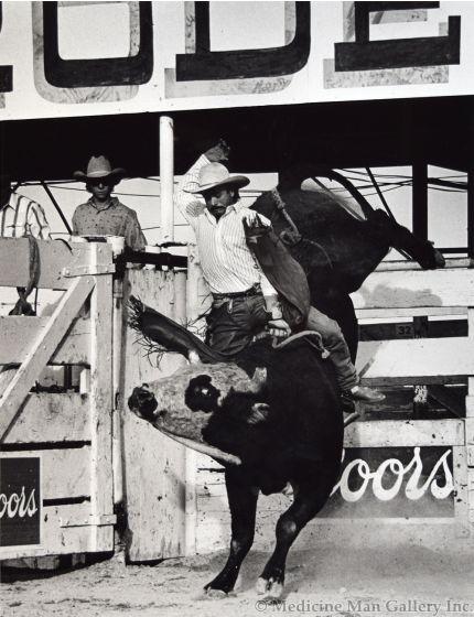 Louise Serpa (1925-2012) - David Fournier: Wins Tucson Pro Rodeo Ass'n, 1989