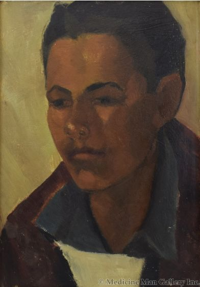 Attributed to Joseph Fleck (1892-1977) - Taos Boy