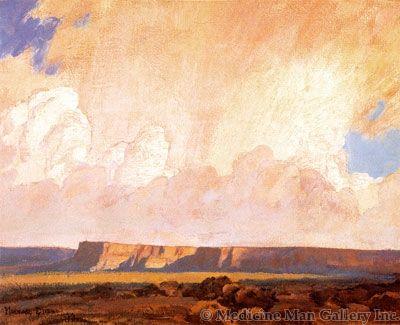 Maynard Dixon (1875-1946) - SOLD - Receding Ranistorm