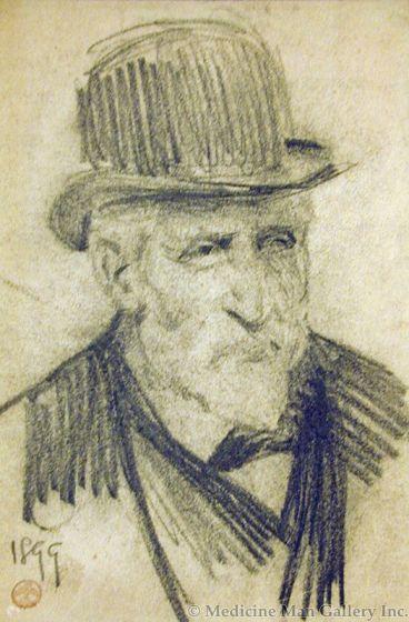 Maynard Dixon (1875-1946) - SOLD - Derby Hat