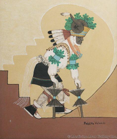 SOLD Pablita Velarde (1918-2006) - Ram Dancer