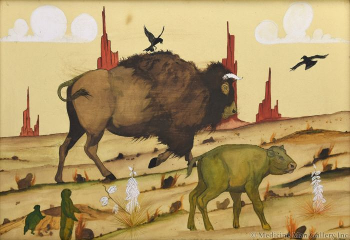 S. Begay - The Buffalo Go Back to Wester (M90772A-0221-002)