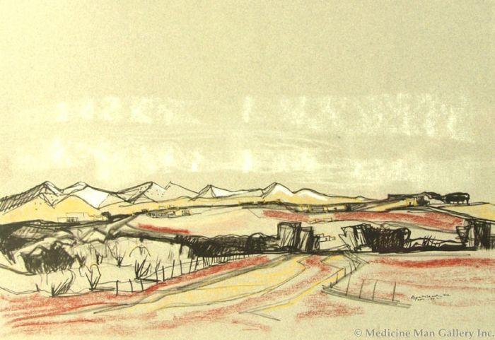 SOLD Doel Reed (1895-1985) - Taos Landscape