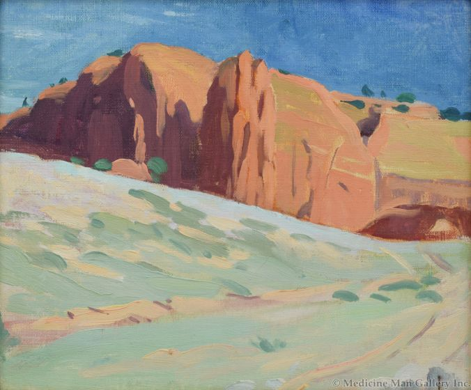 Mary-Russell Ferrell Colton (1889-1971) - Red Rock Valley, New Mexico