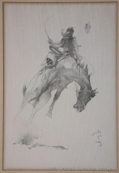 x SOLD W. Herbert Dunton (1878-1936) - Bronco Buster No. 9 - Cattle Land Series