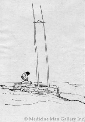 Maynard Dixon (1875-1946) - SOLD - Hopi Meditation