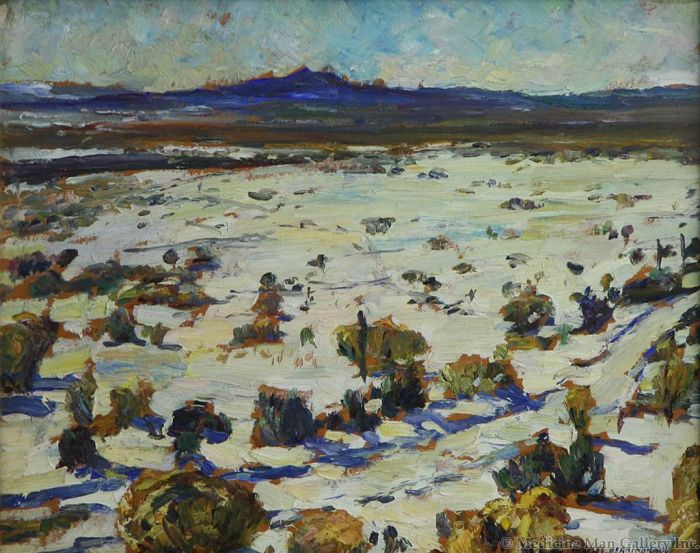 SOLD Charles Berninghaus (1905-1988) - Desert White