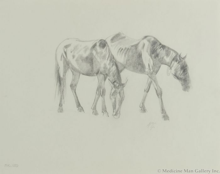 Ralph Brownell McGrew (1916-1994) - Number SK. 150, Two Horses (PDC90536-1220-011)