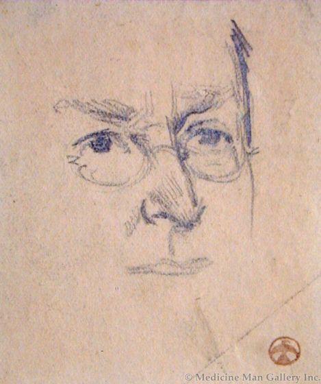 Maynard Dixon (1875-1946) - SOLD - Man with Glasses