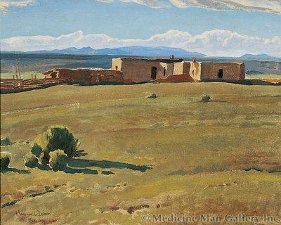 Maynard Dixon (1875-1946) - SOLD - Ranchito Taos, New Mexico