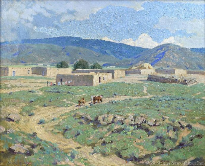 Wood W. Woolsey (1899-1970) - New Mexico Landscape
