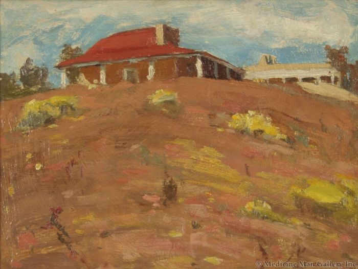 SOLD E. I. Couse (1866-1936) - Couse's Studio and House