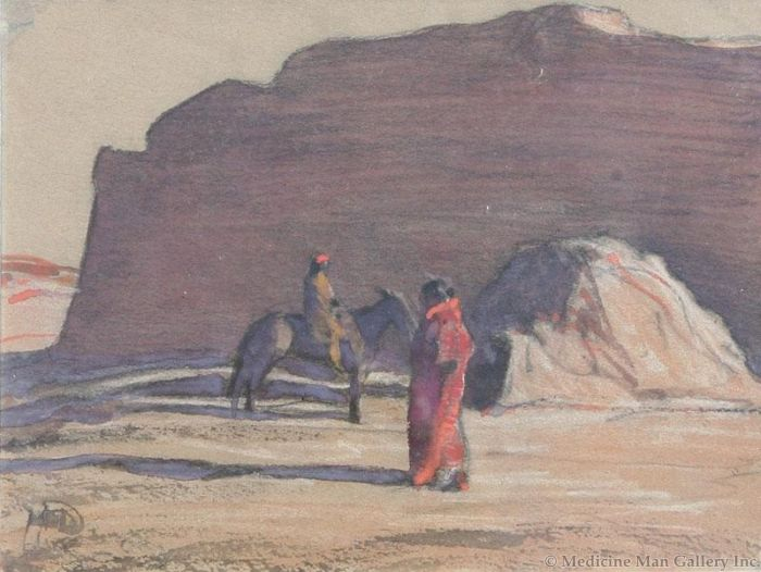 Maynard Dixon (1875-1946) - SOLD - Navajos Canyon de Chelly