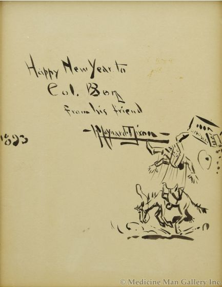 Maynard Dixon (1875-1946) - Happy New Year to Col. Borg from his Friend