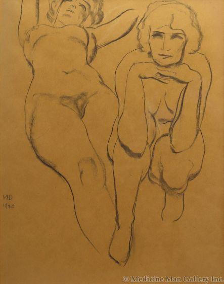 Maynard Dixon (1875-1946) - Double Nude (PDX91660-0620-004)