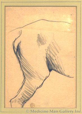 Maynard Dixon (1875-1946) - SOLD - Horse/Animal Study
