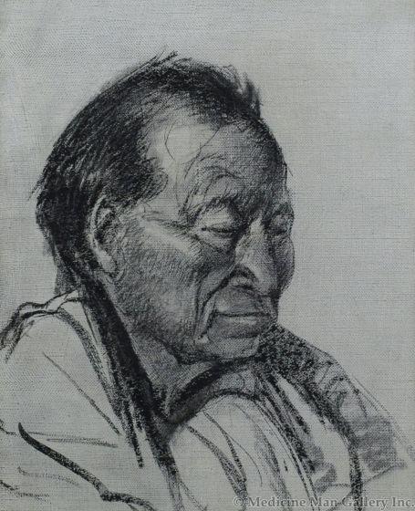 Oscar Edmund Berninghaus (1874-1952) - Indian Head-Man