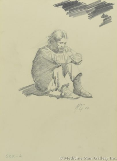 Ralph Brownell McGrew (1916-1994) - Number SK. 6, Native Man Sitting (PDC90536-1220-032)