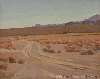 Maynard Dixon (1875-1946) - SOLD - Greasewood Flat, Indian Springs, Nevada 1937