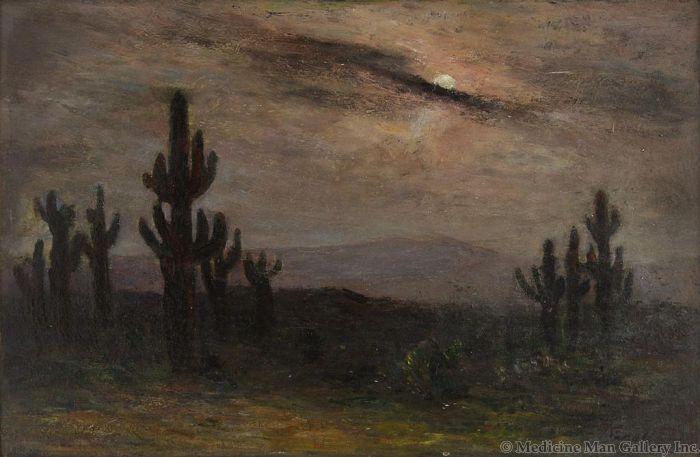Albert Lorey Groll (1866-1952) - Cactus Study