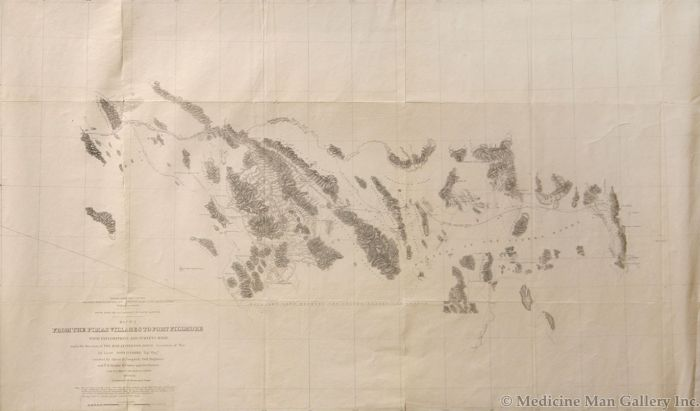 H. Custer - From the Pima Villages to Fort Fillmore Map