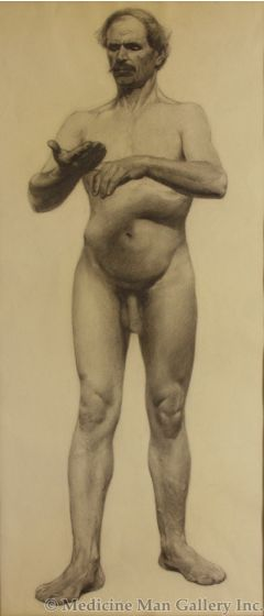 SOLD Frank Tenney Johnson (1874-1939) - Nude Male (Front View)