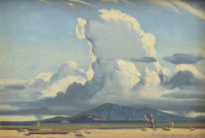 Clyde Forsythe (1885-1962) - Ascending Thunderstorm