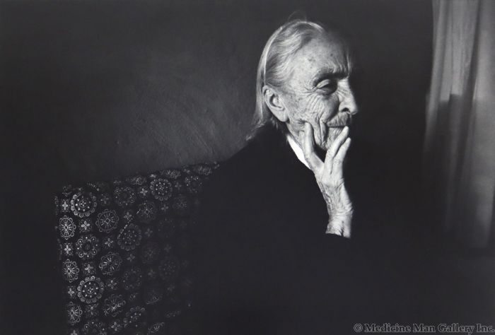 Dan Budnik (1933-2020) - Georgia O'Keeffe After Dinner, Ghost Ranch, New Mexico; March 1975 (PDC90211C-0121-007)
