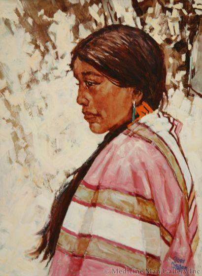 SOLD Ross Stefan (1934-1999) - Pueblo Maiden - Tesbito