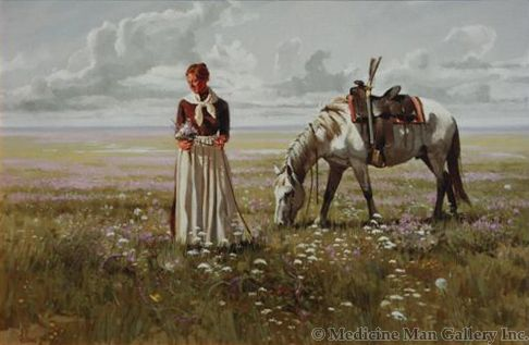 Fred Fellows - A Prairie Garden (Giclee Print on Canvas)